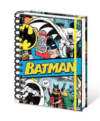 Batman A5 Notebook  Retro DC Comics Hardback Spiral Bound Work School Lined