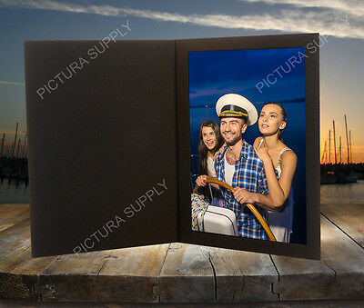 8x10 Black Cardboard Photo Folders - Pack of 25