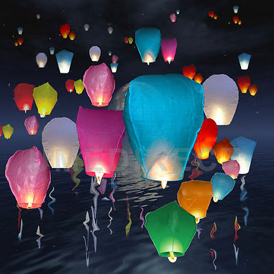 Mixed Chinese Flying Sky Lanterns Birthday Wedding Party Celebrations Balloon