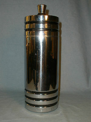 Vintage Art Deco Chase Gaiety Chrome Cocktail Shaker Bar 1930s
