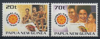 Papua-Neuguinea 1990 ** Mi.614/15 Familie family Volkszählung Census [st1551]