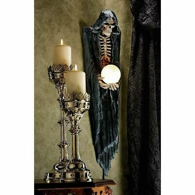 Halloween Grim Reaper Illuminated Gothic Wall Sculpture Lamp Death Night Light