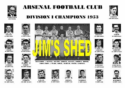 Arsenal F.c. 1953 League Champions Memorabilia Print