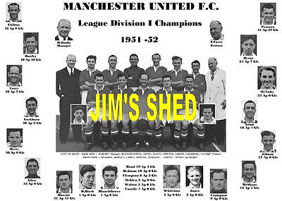 Manchester United 1952 League Champions Memorabilia