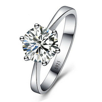 wholesale 925 Sterling Silver Ring AAA Zircon Diamond Rings Women Jewelry Gift
