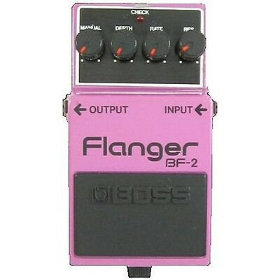Boss Bf-2 Flanger Flange Guitar Effects Pedal Black Label Japan 1981