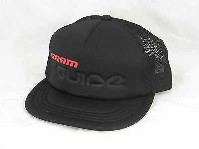 Sram Guide Red And Black Foam Front Mesh Back Trucker Style Cycling Hat Cap A+