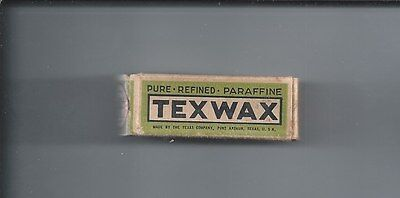 Vintage Texaco Texwax parrafin in original package 1930s-40s  Box 1 3/4th inches