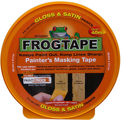 FrogTape Gloss & Stain Surface Masking Tape - Orange - 24mm x 41m - FREE P&P