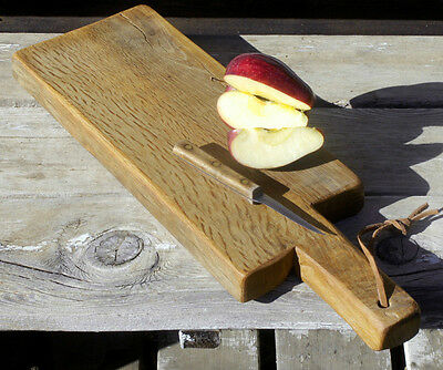 French Cutting Board Solid Oak Country Farmhouse Primitive Kitchen Bread Tray 22