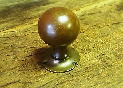 Period Reclaimed - Traditional Small Round Brass Door Knob/Handle/Backplate