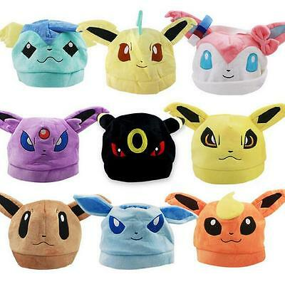 Pokemon Plush Warm Hat Cap Beanie Costume Eevee Sylveon Sylveon Umbreon New