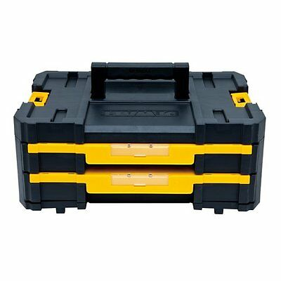 DEWALT DWST17804 TSTAK IV Tool Box Case with 2 Shallow Drawers(16.5 lb capacity)