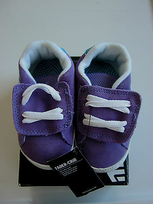 Etnies toddler Fader crib shoes, purple & white, size 4, new