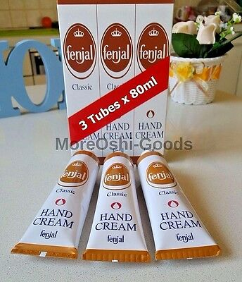 Hand Cream Lot Fenjal Classic Silicone Non Greasy Lotion x3 80ml Tubes 240ml New