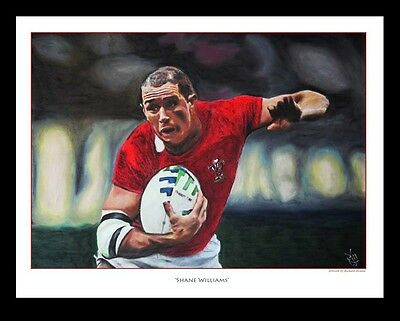 SHANE WILLIAMS: WALES RUGBY -  FINE ART PRINT Signed by Artist