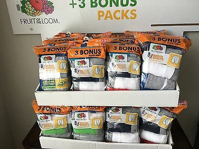 Fruit of the Loom Boy's 8 PAIR Boxer Briefs, Large (14-16)