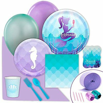 Mermaids Under the Sea Party Supplies - Value Party Pack