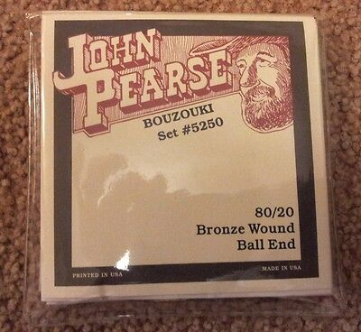 John Pearse 5250 Ball Ended Special Bouzouki Strings - New