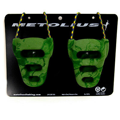 Metolius Rock Rings CNC 3D Green/Green Swirl One Size