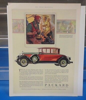 Vintage Packard Single page Ad 1928 Very Fine condition Car Advertising