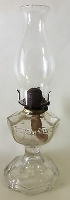 Vintage Glass Kerosene Lamp