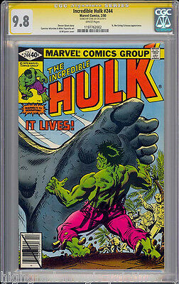 Incredible Hulk #244 White Cgc 9.8 Ss Stan Lee Signed Highest Graded #1197762002