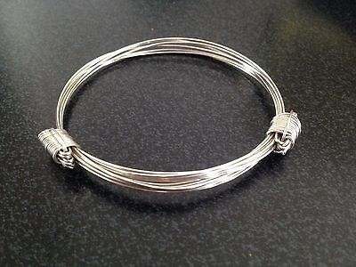 925 Sterling Silver Solid Elephant Hair Bracelet 13grams