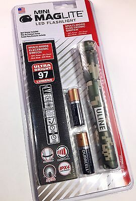 NEW Maglite Mini LED 2-cell AA SP22MRH Flashlight Camo Pattern