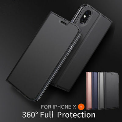 Leather Flip Card Holder Stand Slim Wallet Case Cover For iPhone XS Max 8 7 Plus