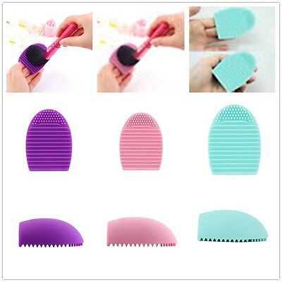 Egg Cleaning Glove MakeUp Washing Brush Scrubber Board Cosmetic Brush NR