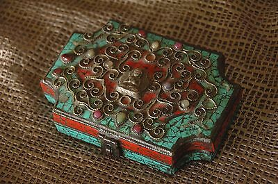 Old Tibetan Inlaid Cooper Box …beautiful collector's item