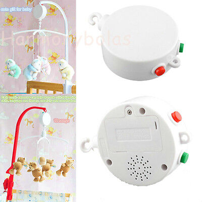 Cute baby Crib Bed Bell 12 Melodies Songs Electric Mobile Musical Bell Baby Gift