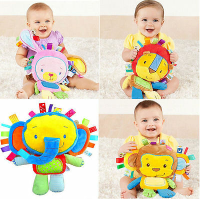 Baby Educational Rattle Soft Doll Infant Toys Animal Plush Development Gift Kids