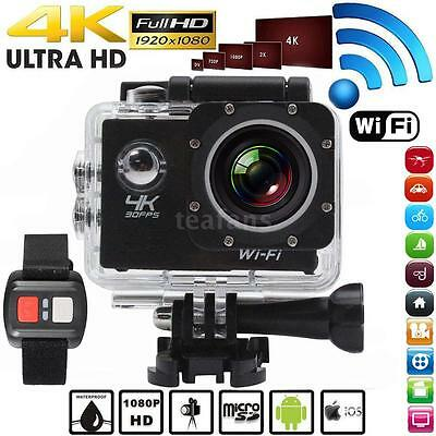 "WiFi Ultra HD 1080P 4K@30fps 170° 2"" Sport Action Camera with Remote Control US"