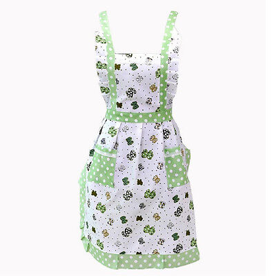 Women Lady Restaurant Home Kitchen For Pocket Cooking Cotton Apron Bib SH