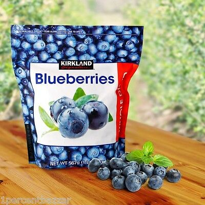 1 x Kirkland Signature Blueberries Whole Dried 567grams