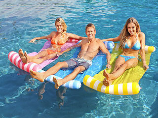 Inflatable Pool Hammock w Bolster Lounge Float Floatie Toy Summer 134 x 72cm Air