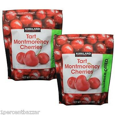 2 x Kirkland Signature Tart Montmorency Cherries Whole Dried 567grams