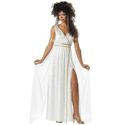 Womens Athenian Greek Goddess Toga Costume Halloween Fancy Dress Party Outfit