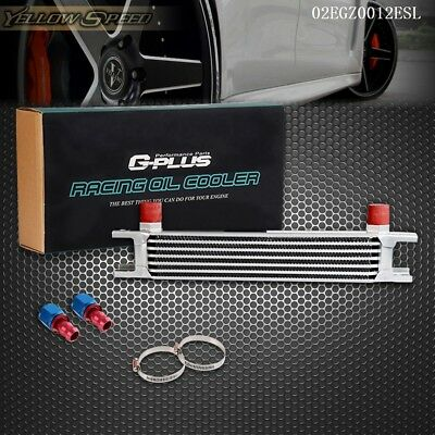 7 Row AN-10AN Universal Engine Transmission Oil Cooler +  Hose End Fitting