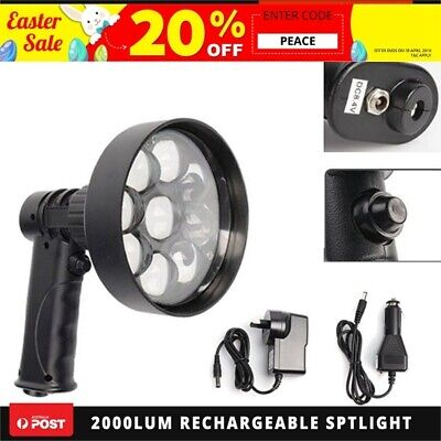 Xhunter 2000Lum CREE T6 RECHARGABLE SPOTLIGHT HUNT SHOOT HANDHELD LED SPOT LIGHT
