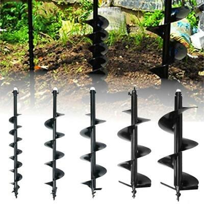 """56cc GAS POWER EARTH ONE MAN POST FENCE HOLE DIGGER DRILL BITS 4"""" 6"""" 8"""" 10""""12"""""""