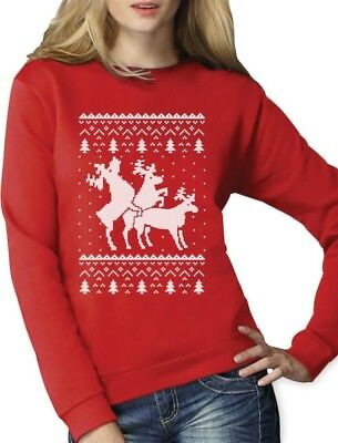 UGLY CHRISTMAS SWEATER Knitwear Threesome Humping Reindeer