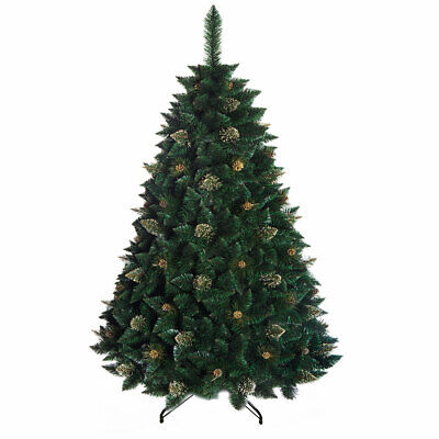 Christmas Tree Luxury Traditional Green 3 sizes - Gold pine with crystals