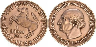 1 Billion Mark 1923 Nebengebiete / Westfalen 1923 vz, Randfehler