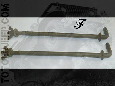 PAIRE TIGES FIXATION SUPPORT BATTERIE JEEP FORD GPW . us ww2