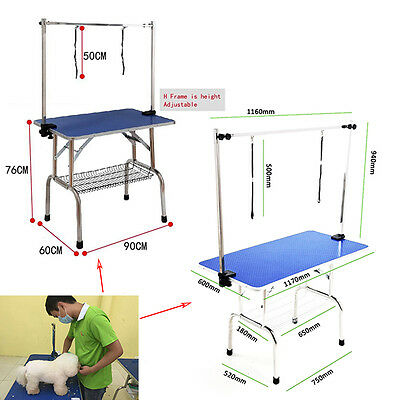 Portable Foldable Pet Dog Grooming Table Adjustable Arm Non Slip Surface 36/44 i