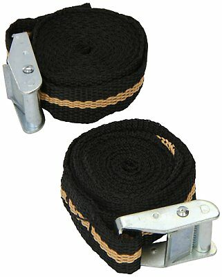 2 x 2.5m Ratchet Tie Down Straps Tensioner Car Storage Travel Cord Strong