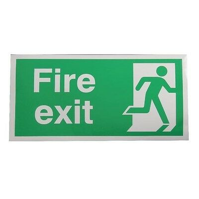 Signs and Labels Safety Sign Fire Exit Running Man Right 150x300mm E98A/S